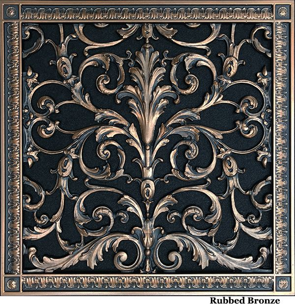 Decorative Return Air Vent Grille In Louis Xiv Style Beaux Arts Classic Products Decorative Grilles Decorative Vent Cover Classic Home Decor