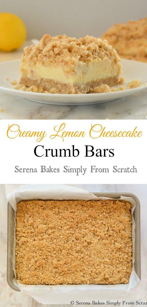 Creamy Lemon Cheesecake Crumb Bars! A must make!: Creamy Lemon ...