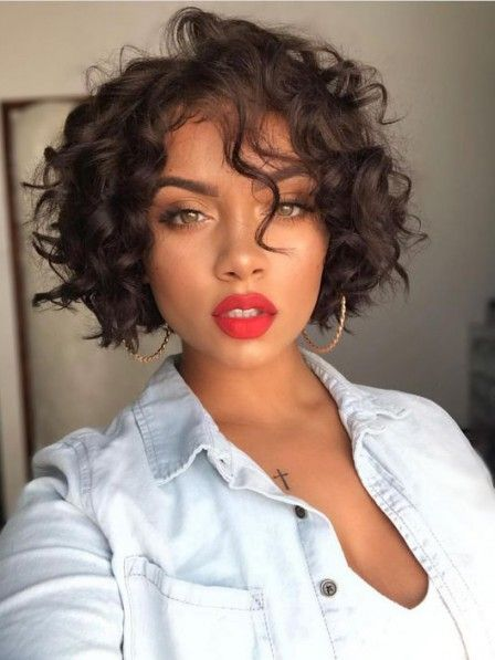 Messy chin-length curly ladies capless wigs