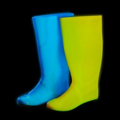 Check out this Glow in the Dark Wellington Boots