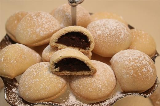 chestnut cream cookies, Christmas Italian favorite