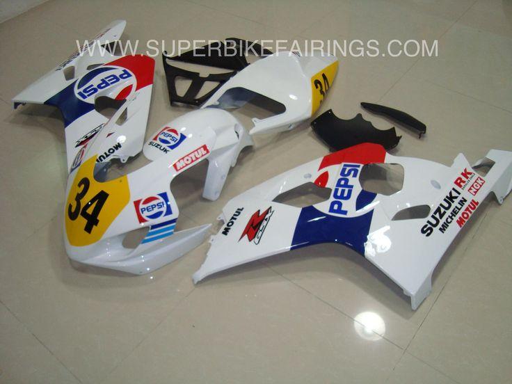 2004-2005 GSXR-600 750 White, Blue & Red Pepsi Fairings