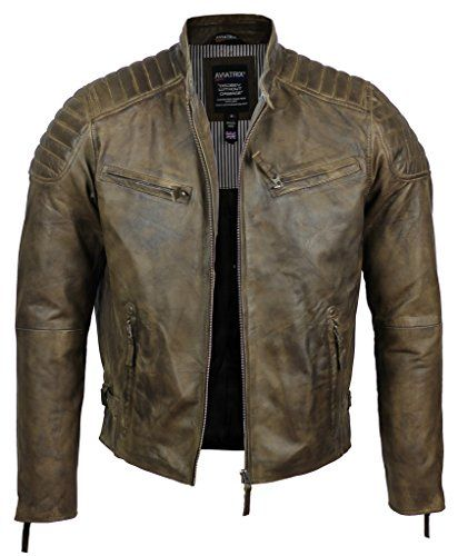 £99.99 Real Soft Leather Slim Fit Antique Washed Brown Urban Retro Biker Jacket Aviatrix http://www.amazon.co.uk/dp/B00RWSW0HO/ref=cm_sw_r_pi_dp_5-EAwb1ADKGA0