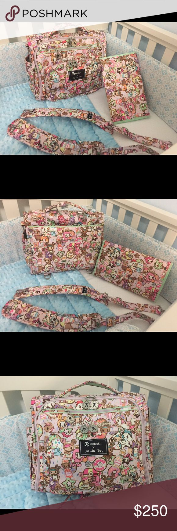 Jujube tokidoki donutella sweet shop bff Beautiful new without tags jujube donutella sweet shop bff .does not come with messenger strap.in great condition.just test packed it and it was too big for my twins. jujube Bags Baby Bags