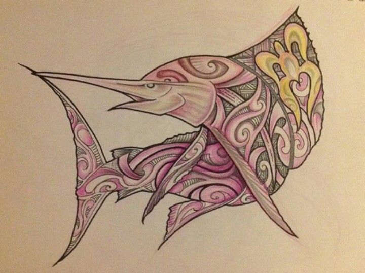 Maori Fish Tattoo: Sword Fish Maori Tattoo