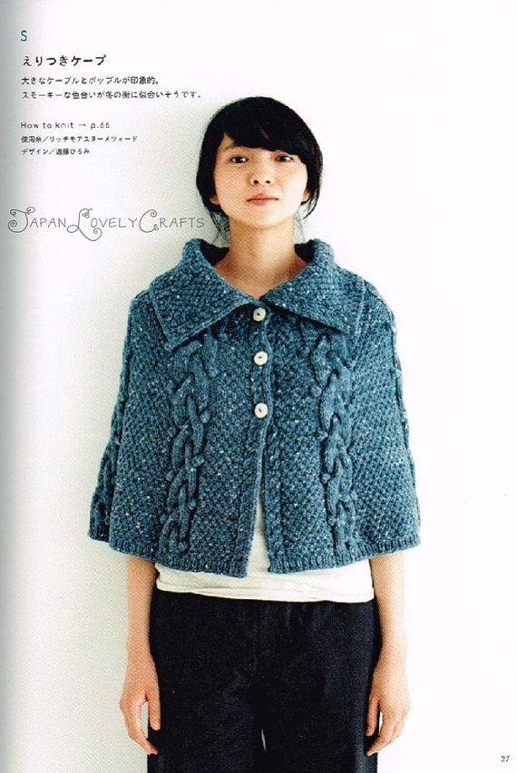 Aran Knitting Pattern Books : 108 fantastiche immagini su poncho scialle coprispalle su Pinterest Motivo ...