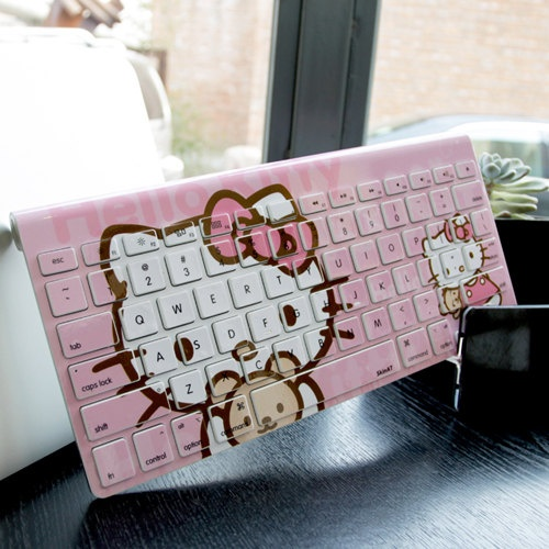 Kitty Wireless keyboard decal mac pro decals mac by Newvision2012