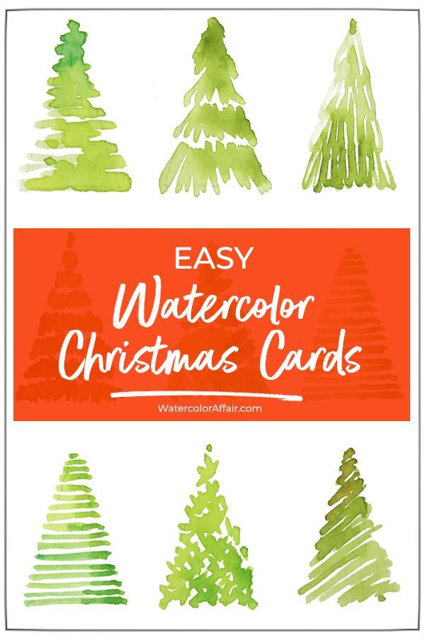 Simple watercolor Christmas card tutorial. Make your own watercolor cards for your ….
