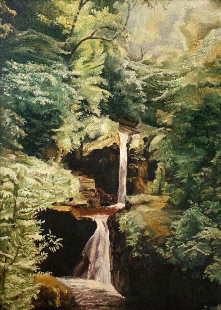 Waters meet, Devon - oil painting