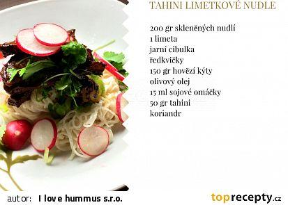 Tahini limetkové nudle recept - TopRecepty.cz