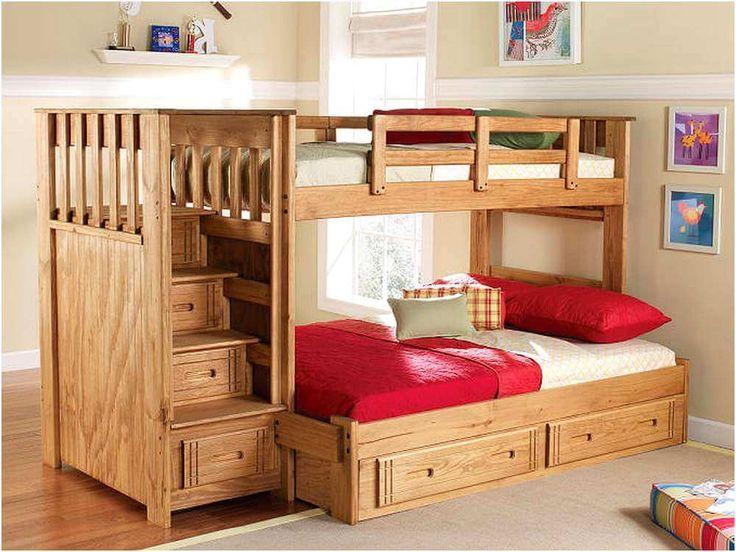 Twin XL over Queen bunk bed | Diy bunk bed, Cool bunk beds ...
