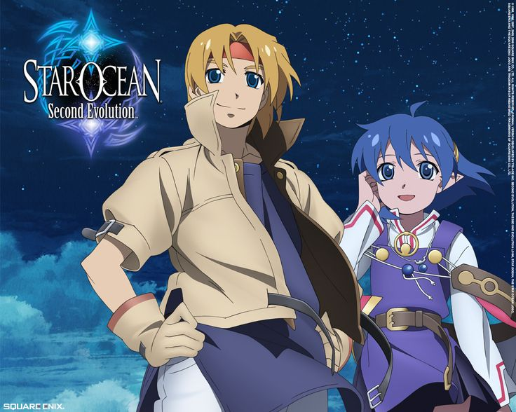 Heroes Claude and Rena of Star Ocean 2 (the PlayStation original was called Star Ocean: The Second Story, the later released PSP game was called Star Ocean: Second Evolution).