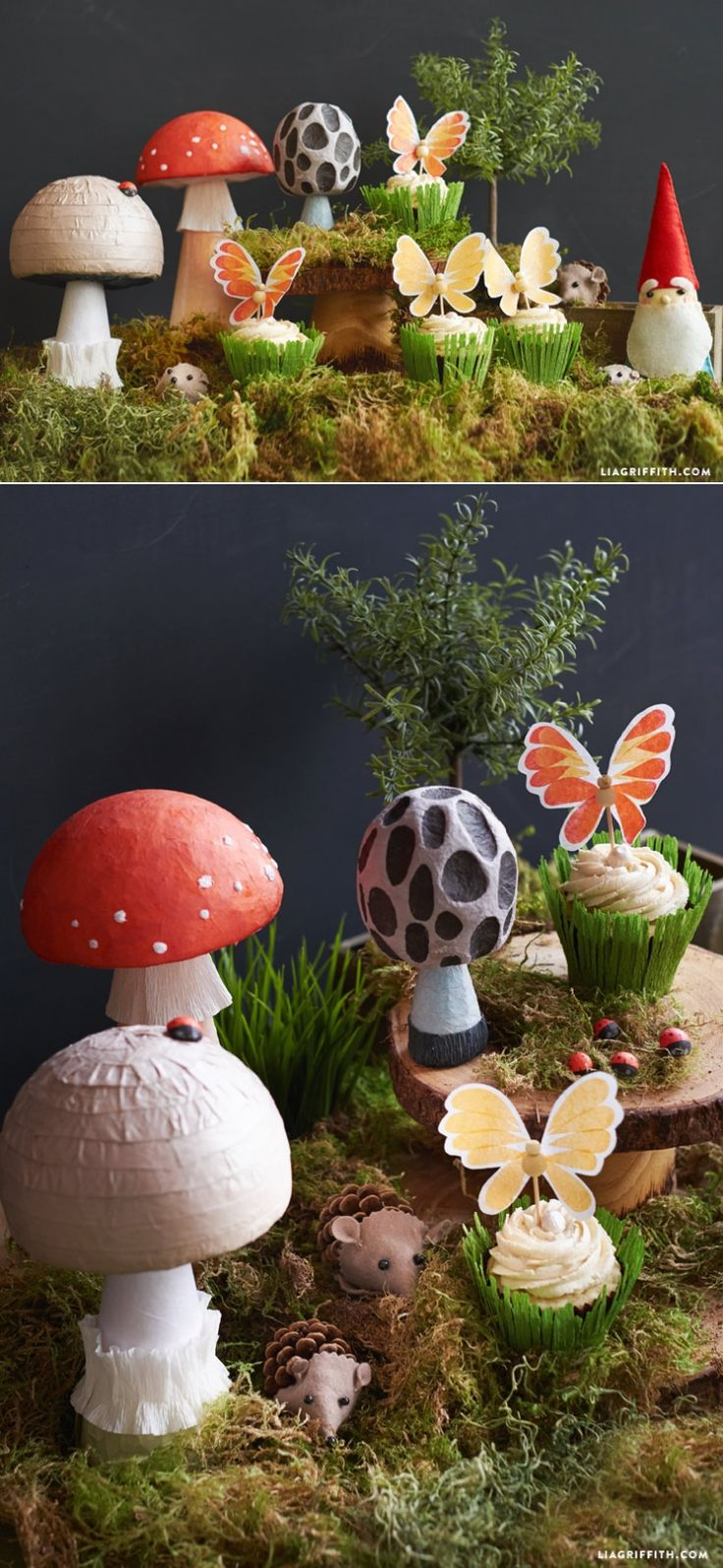 Fairy lawn ornaments - Diy Fairy Tale Mushrooms