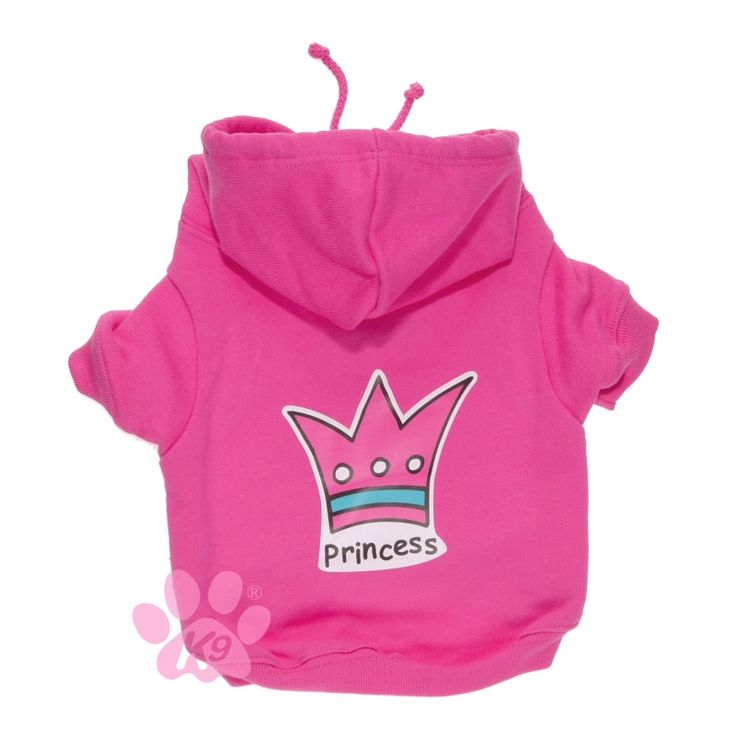Sudadera para perro Princes, de la firma K9   Lleva abrigado y a la moda a tu perrito con esta sudadera de la colección Princess.http://bit.ly/1PQBHNG