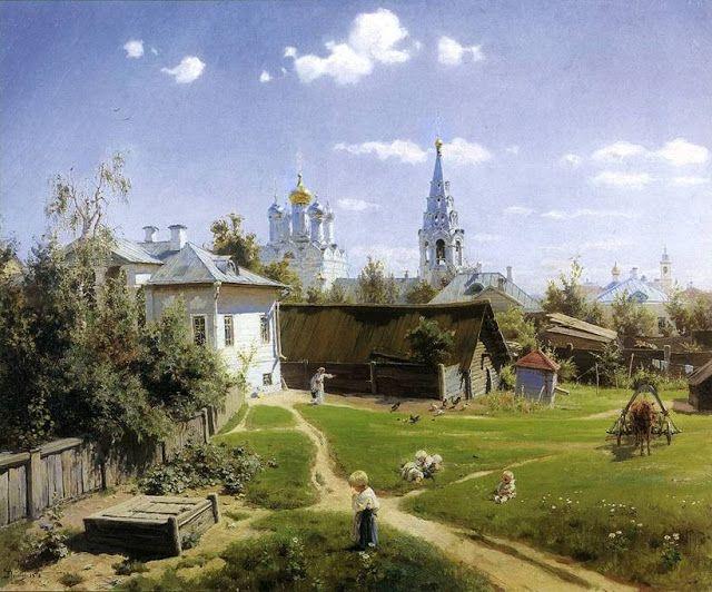 """CLARIANA: VASILI POLÉNOV (Realismo ruso) s XIX, San Petersburgo 1844/ Borok 1927 / y el vídeo contra las corridas de toros """"No con mi voto"""""""