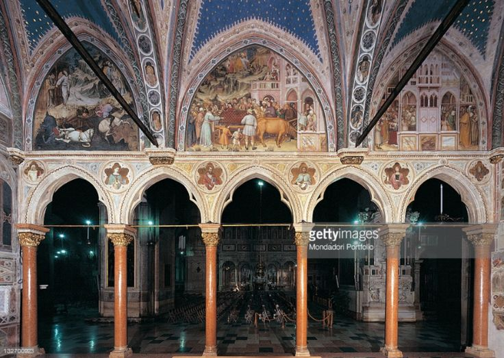 San Giacomo, Padua - Shrine towards St. Antony, frescos by Altichiero and Jacopo 1372-9