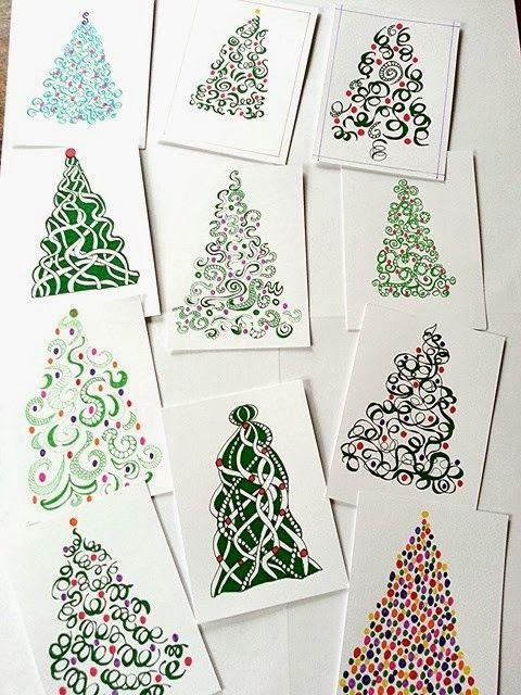 De Merle: Kerstkaarten droedelen - Laat je kerstkaarten drukken bij Drukzo: http://www.drukzo.nl/kerstkaarten-drukken
