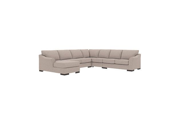 Best Bantry Nuvella® 5 Piece Sectional With Chaise And Sleeper 400 x 300