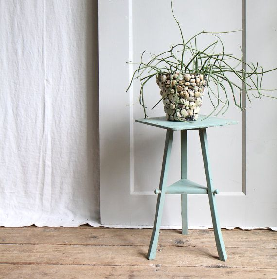 love that mint green....Vintage Bentwood Plant Stand. $40.00, via Etsy.