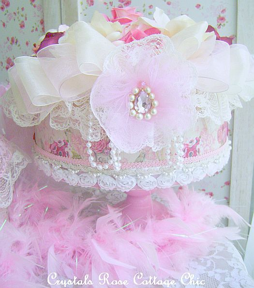 Victorian Decorative Boxes | Shabby Victorian Rose Decorative Hat Box