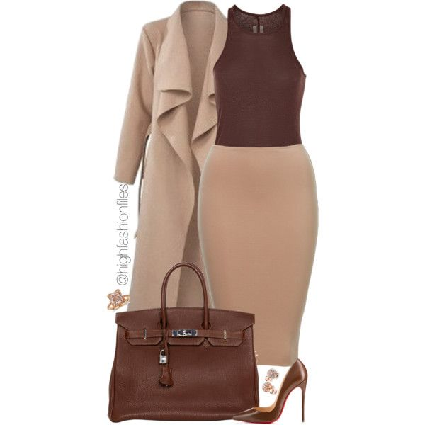 Untitled #2180 by highfashionfiles on Polyvore featuring Rick Owens,  Christian Louboutin, Hermè