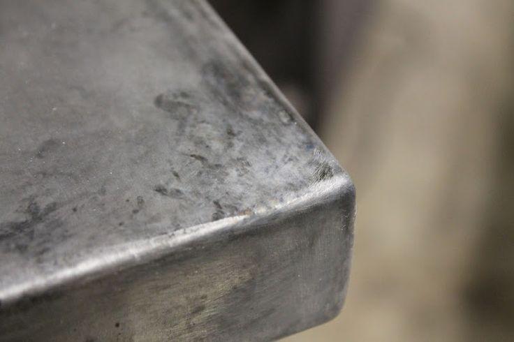 Best 25 zinc table ideas on pinterest concrete table for Zinc countertop cost