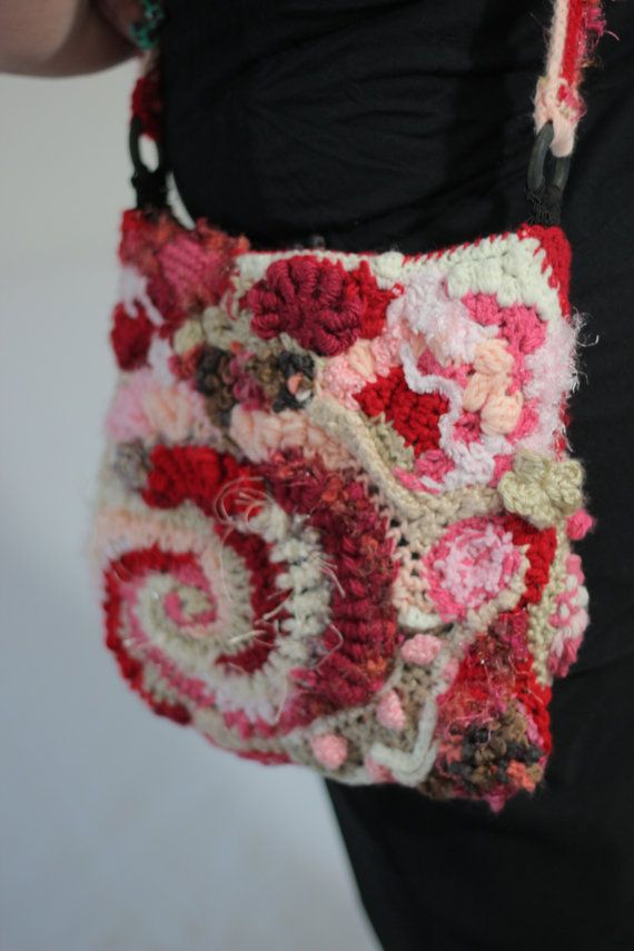 Crochet Freeform bag
