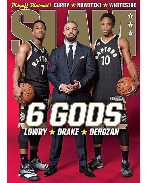 Drake Covers SLAM Magazine with Toronto Raptors' Stars