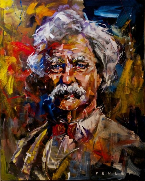 """Mark Twain by Steve Penley, photo by Jo Reeves Photography  """"Let us endeavor so to live that when we come to die even the undertaker will be sorry."""""""