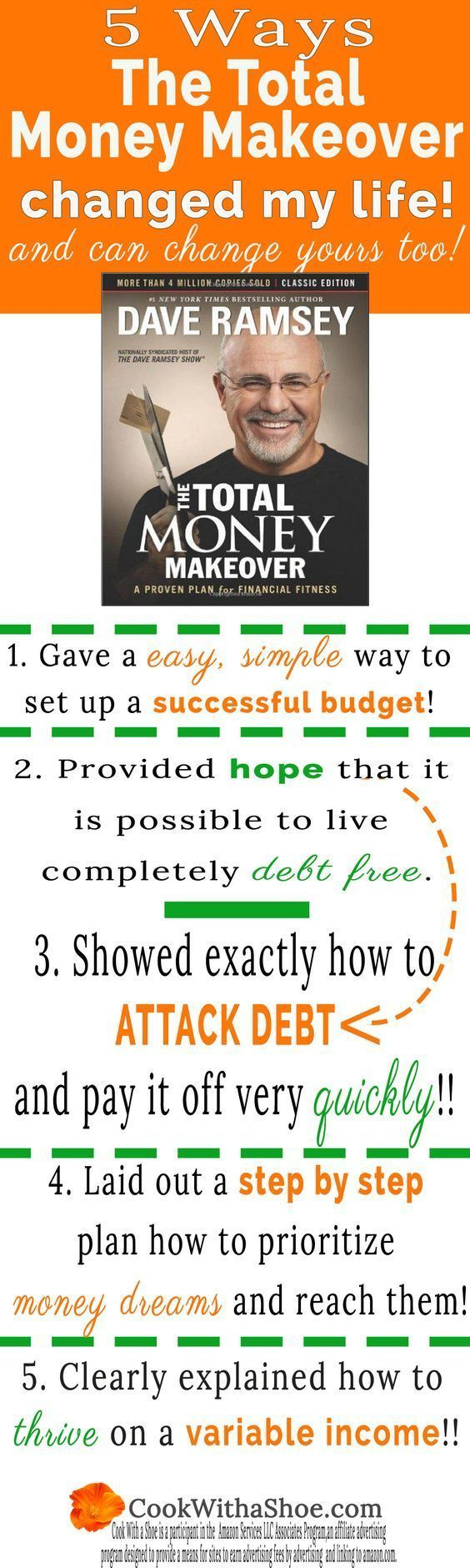 You CAN have a successful budget!! I went from being a budget hater to now having a successful budget and loving it! The Total Money Makeover will change your life too!! |Cook With a Shoe