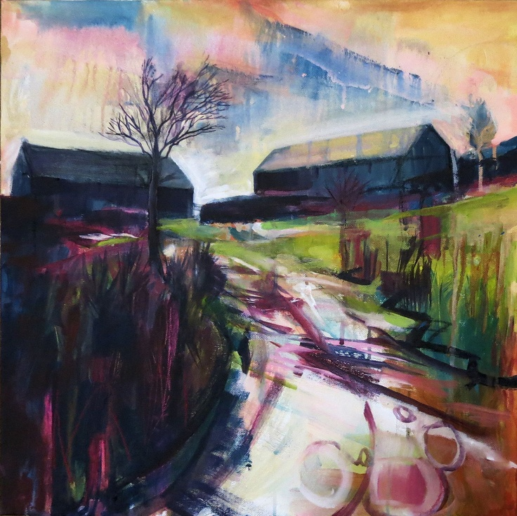Parc Mixed Media on canvas © Bev Dunne