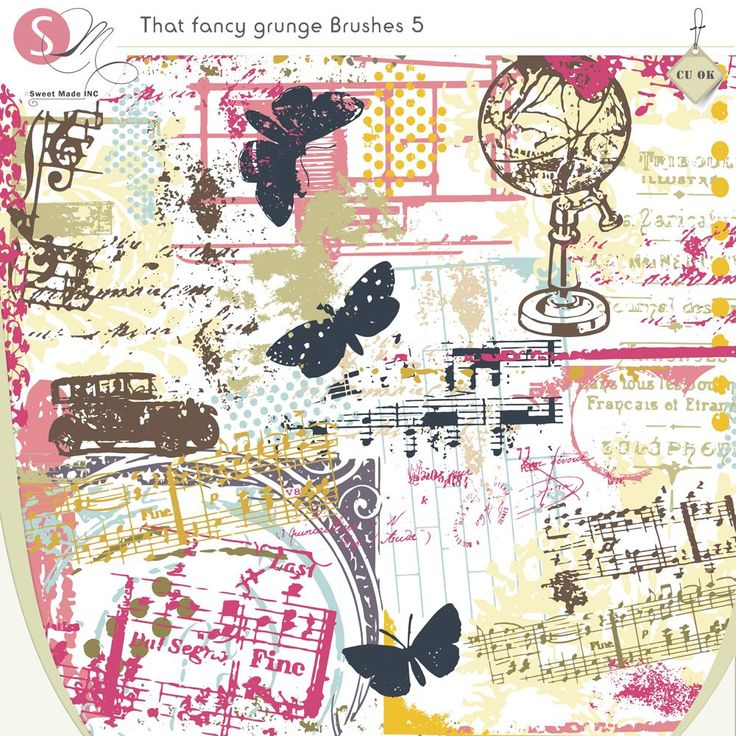 36+ Contemporary Scrapbook Title Ideas Adornment That Fancy Grunge Brushes 5 Cuc…
