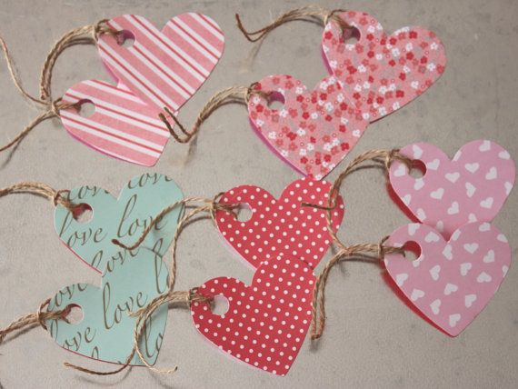 Assorted Valentine's Gift Tags 10 Pack by LYHHandmadeGifts on Etsy