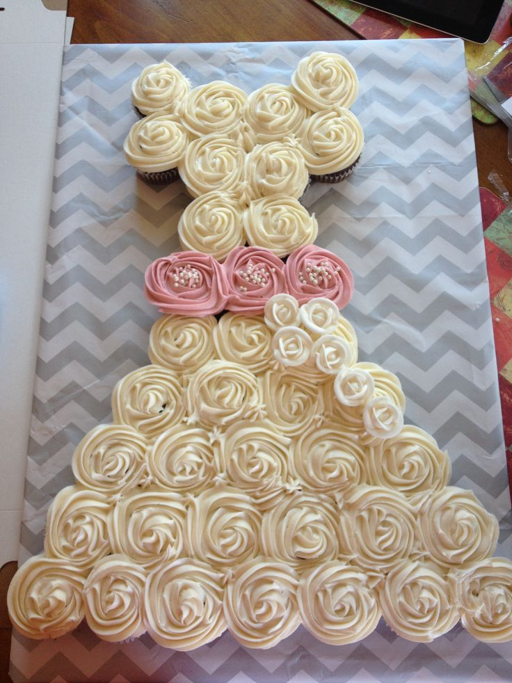 bridal shower cupcake dress. cakes,cupcakes,cookies ...