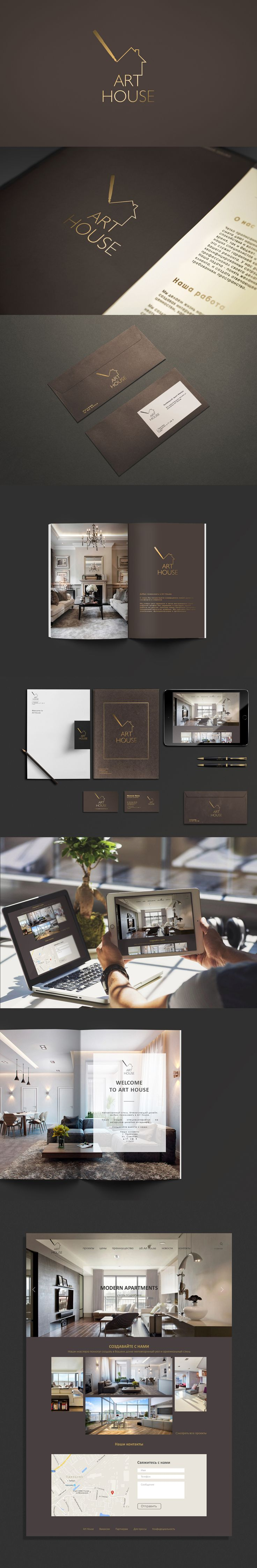 Corporate branding and identity. Luxury interior design studio                                                                                                                                                                                 More