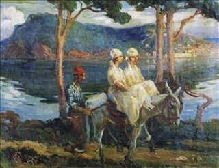 Ada'da Gezintiye Çıkan Kadınlar/İbrahim Çallı