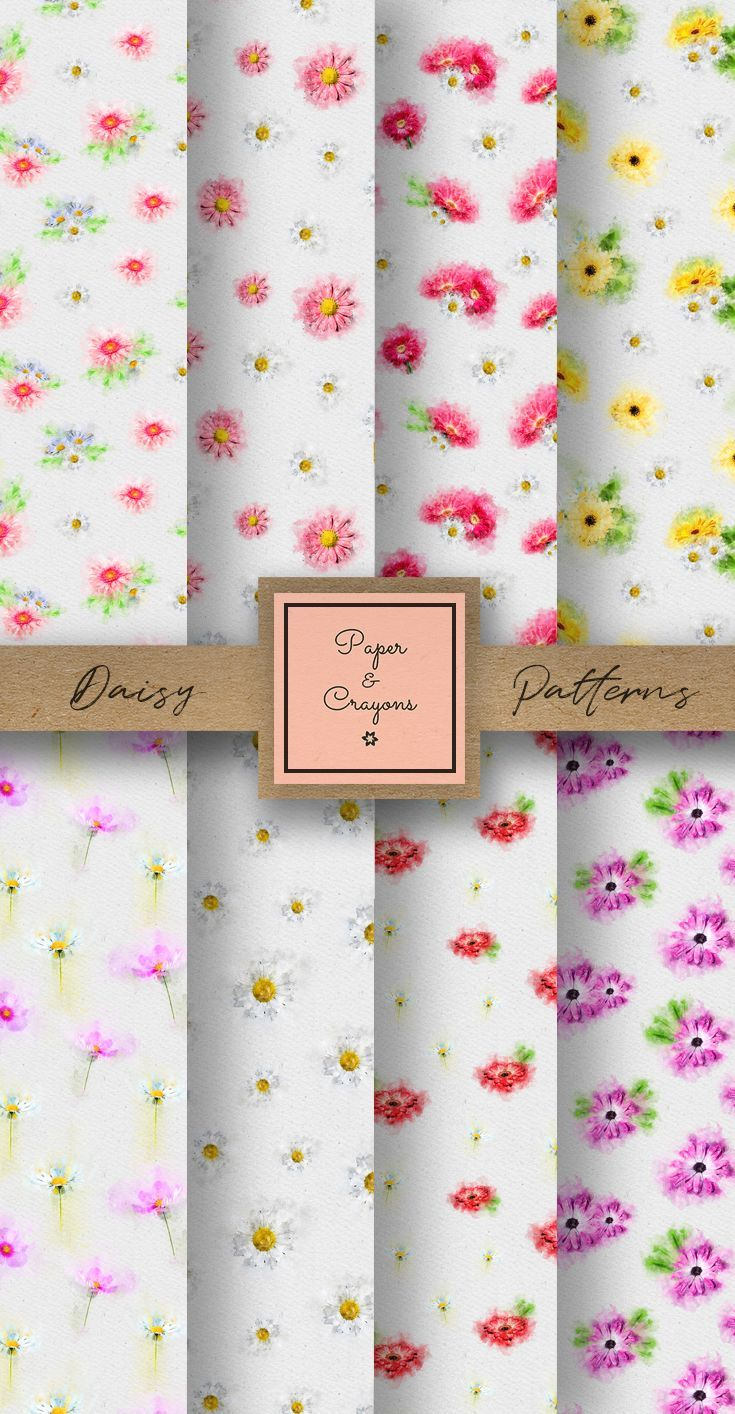Daisy digital paper seamless pattern floral digital paper flower daisy digital paper seamless pattern floral digital paper flower scrapbooking paper watercolor daisies mightylinksfo