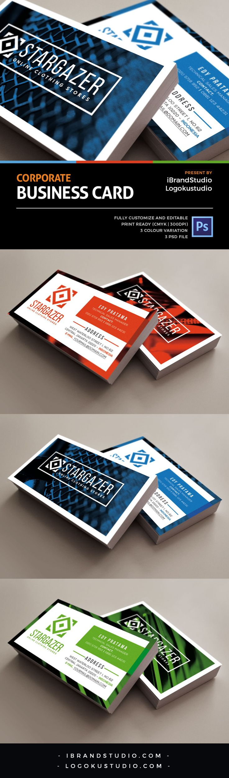 Free Corporate Business Card Template Vol.2
