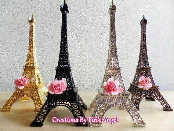 """10"""" Torre Eiffel de metal centro de mesa, pieza central de París, decoraciones…"""