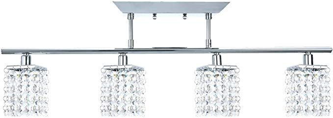Noma Fixed Track Lighting Crystal Pendant Ceiling Track Light Fixture Perfect For Kitchen Hallway Dining Track Lighting Fixtures Chrome Bathroom Ceiling