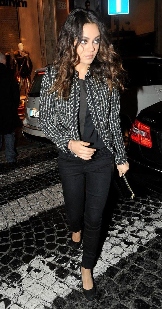 Mila Kunis  Mila attends a charity event while filming Third Person in Rome, Italy. ( December 3, 2012 ) shared to groups 9/7/17