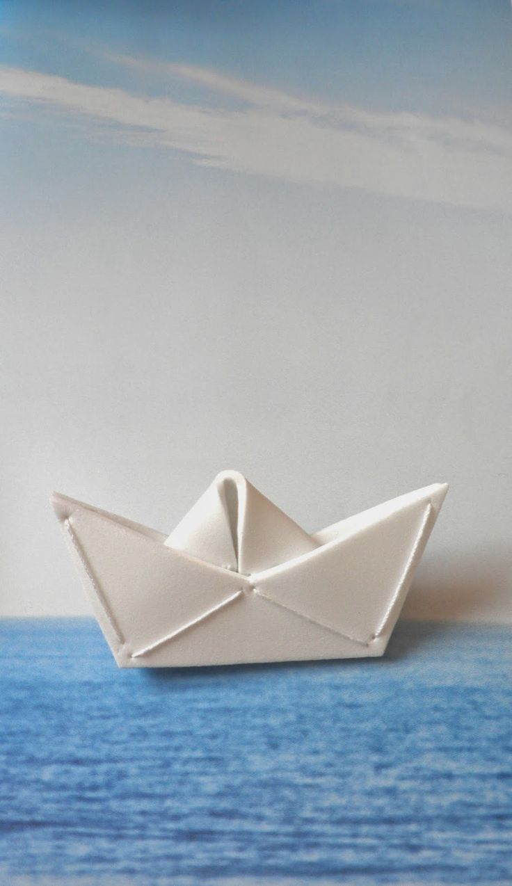 Brooch - Boat made by plastic foam