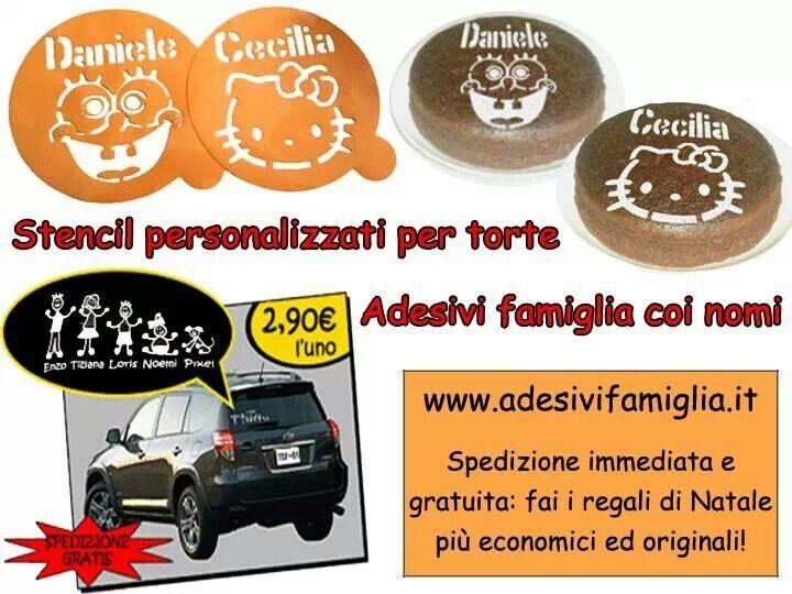 Regali di Natale originali? Per bambini e grandi personalizzati col nome ♥ http://www.adesivifamiglia.it