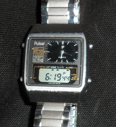 5ae3e57f3 Early 1980s Vintage SEIKO PULSAR Y651-5030 Dual Display Digital & Analog  Watch | Watches | Watches, Seiko, Vintage watches
