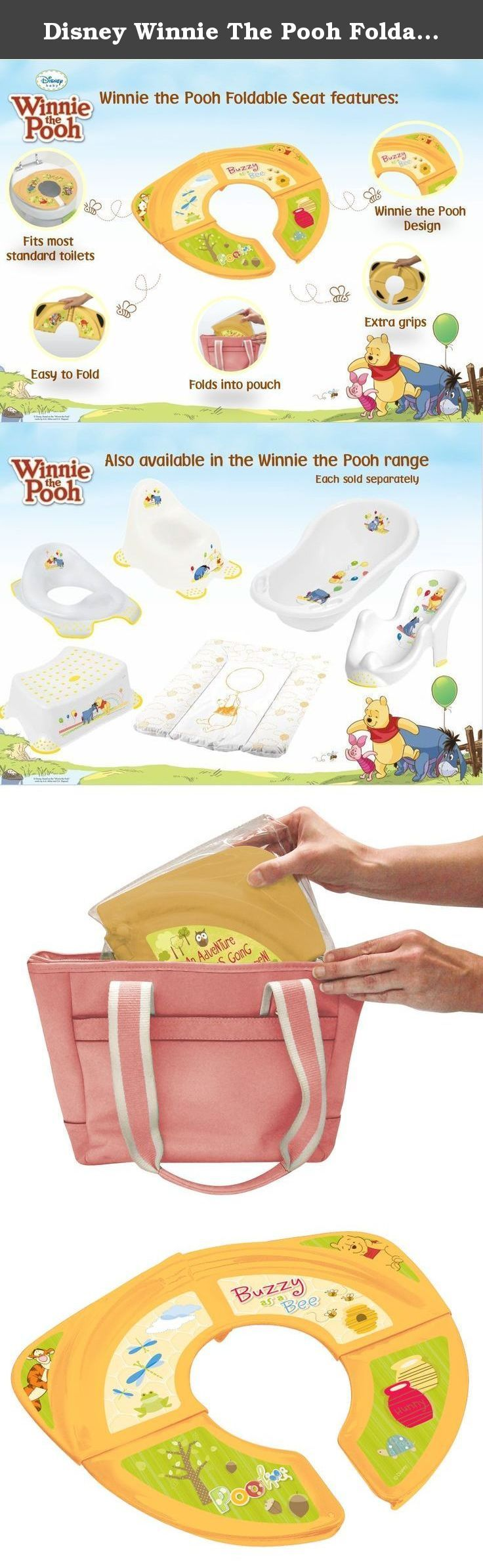 Disney Winnie The Pooh Foldable Toilet Seat. The Disney Toilet Training range has been designed so your child is comfortable and safe whilst at the same time feeling happy that they are sat with their favourite Disney character. This brightly coloured range has been proved to make a challenging experience much more fun and exciting. This seat is designed with extra non slip pads to prevent the seat slipping or tipping. The lightweight plastic material makes it very practical to take the…