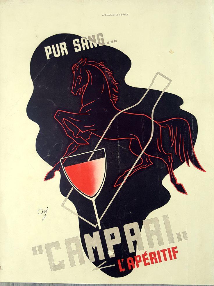 Campari vintage ad, French magazine advertising poster ...