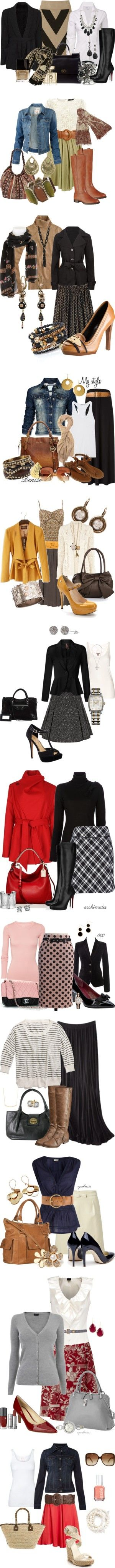 """Don't Skirt the Issue"" by stylesbyjoey on Polyvore, some of them are really cute :)"