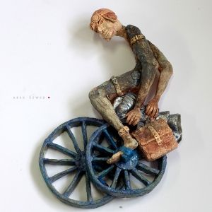 Tour Pierwszy/ Ceramic Sculpture/ Man/ Unique Figurine