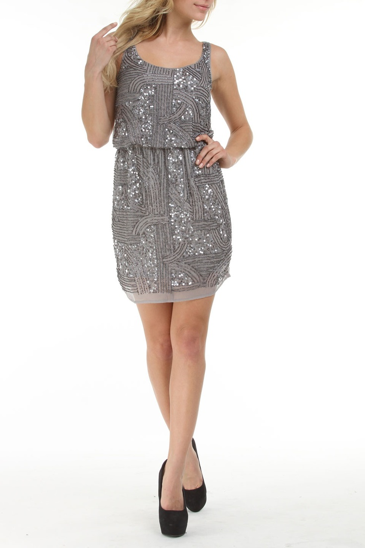 Romeo and Juliet Couture Katrina Dress In Light Gray -