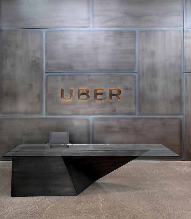 Reception desk and reception area from Uber Advanced Technologies Group Offices – Pittsburgh